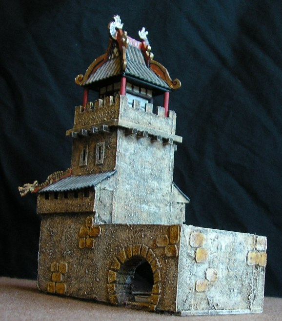 Rear view of Dice Tower