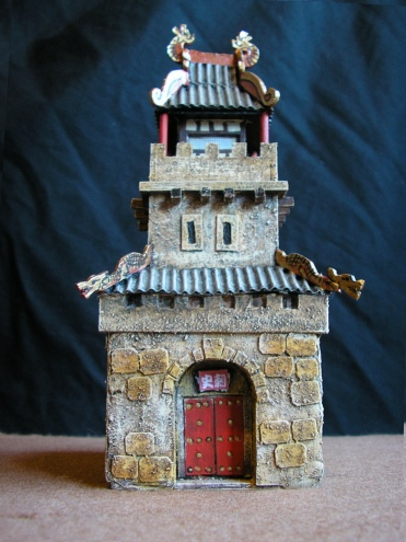 Front view of Dice Tower