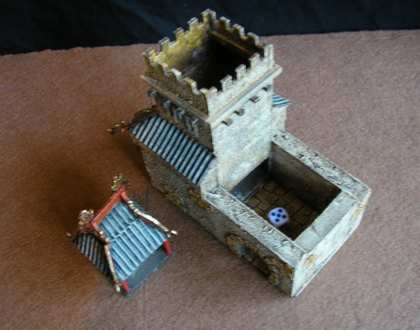 Top view of Dice Tower